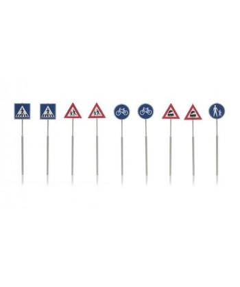 ARTITEC H0 387.215 – Segnali stradali ( 9 pz. ) -1:87