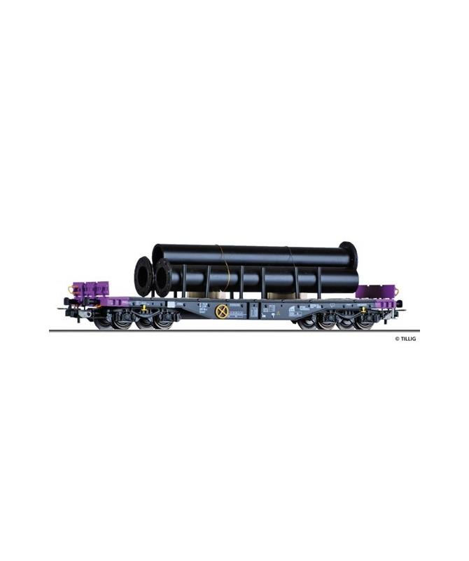 "TILLIG H0 76721 – Carro Pianale Sgmmns4505 con tubi "" D-ERR "" – Ep. VI"