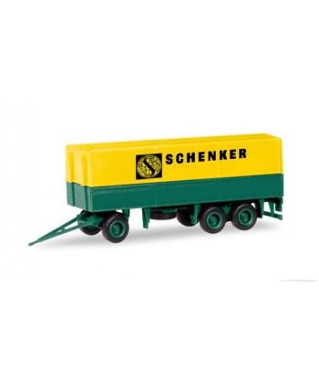 """HERPA 013338 – Minikit Rimorchio telonato """"SCHENKER"""" – 1:87"""