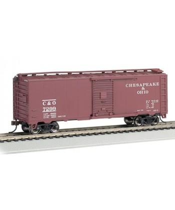 """BACHMANN H0 15006 – Steam Era 40′ Box Car """"Chesapeake & Ohio"""""""