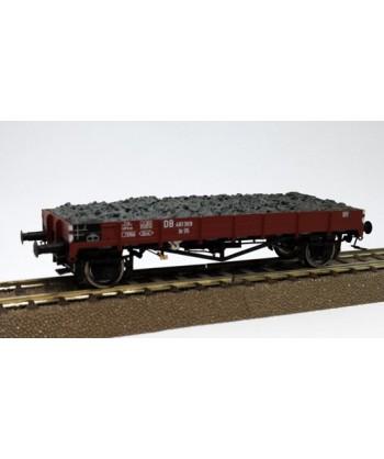 BRAWA H0 49356 – Carro merci aperto Xr35 con carico ghiaia – DB Ep. III