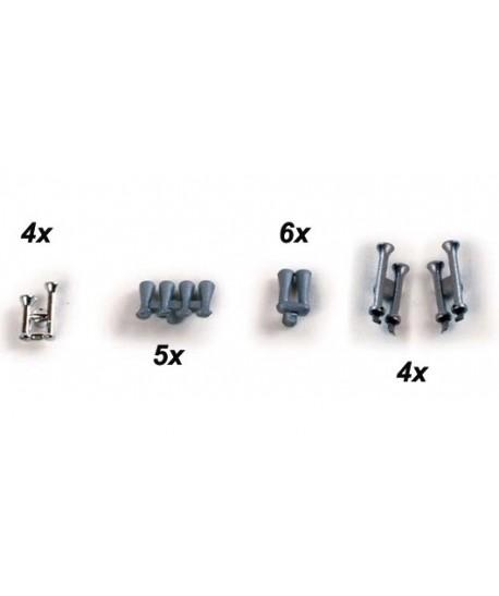 HERPA 052825 – Set Trombe per camion (19 pz) – 1:87
