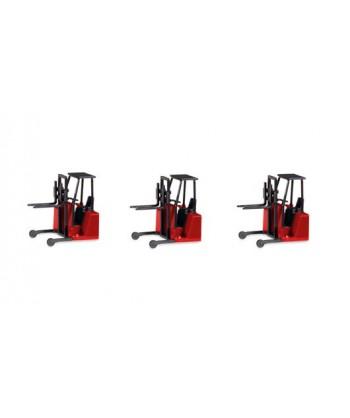 HERPA 053860 – Carrello elevatore con accessori per montaggio su rimorchi (3 pz) – 1:87