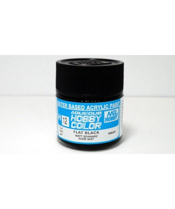 Mr. HOBBY H012 – Vernice acrilica base d'acqua: Nero opaco – 10 ml.