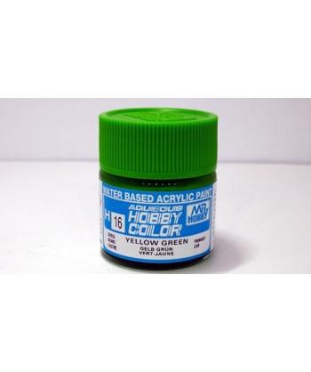 Mr. HOBBY H016 – Vernice acrilica base d'acqua: Giallo Verde – 10 ml.