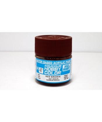 Mr. HOBBY H047 – Vernice acrilica base d'acqua: Marrone rossiccio – 10 ml.