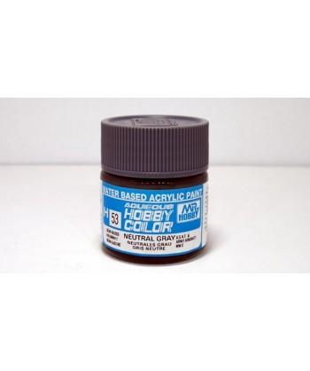 Mr. HOBBY H053 – Vernice acrilica base d'acqua: Grigio neutro – 10 ml.