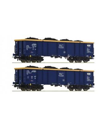 ROCO H0 76086 – Set da 2 pz.: carri merci aperti, Chem Trans Logistic. – ZSSK Ep. VI