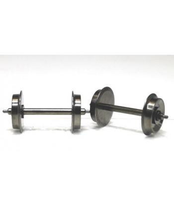 ASSALE 006 DC H0 – n. 2 assali (a spillo) in ottone 10,4 mm / 25,4 mm (1 lato isolato)