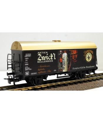 "MARKLIN H0 44212 – Carro trasporto birra ""Zwick'l Kellerbier"" – DB *usato* AC"