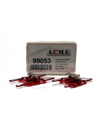 ACME H0 99053 – Coppia di pantografi tipo FS 52/92 con strisciante rialzato