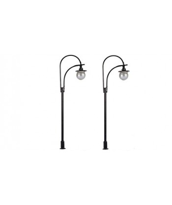MABAR TREN H0 60173 – Set 2 lampioni stradali, LED 12/16V