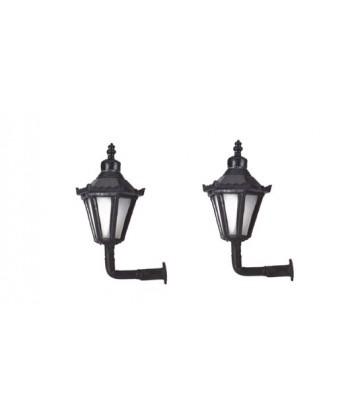 MABAR TREN H0 60176 – Set 2 lanterne stradali da muro, LED 12/16V