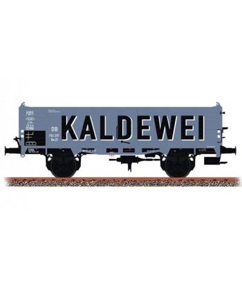 """BRAWA H0 48440 – Carro merci aperto tipo Om 21 """"Kaldewei"""" – DB Ep. III"""