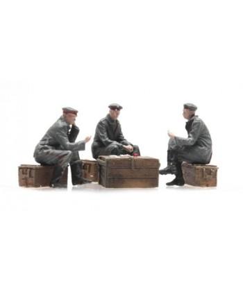 ARTITEC 387.356 – Soldati Tedeschi che giocano a carte WWI – Resina H0