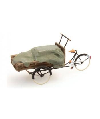ARTITEC 387.60 – Bicicletta da carico con telo – resina H0