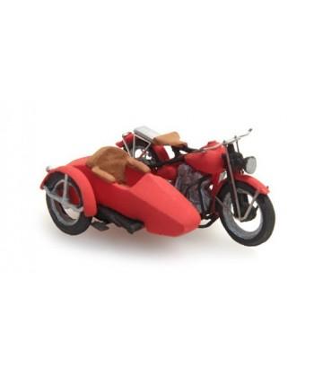 ARTITEC 387.29 – US Libertator moto + sidecar – resina H0