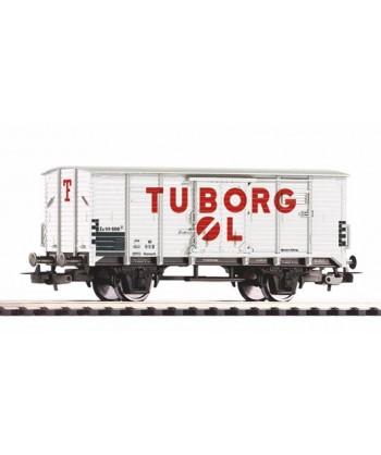 "PIKO H0 54618 – Carro chiuso G02 "" Birra Tuborg "" – DSB Ep. III"