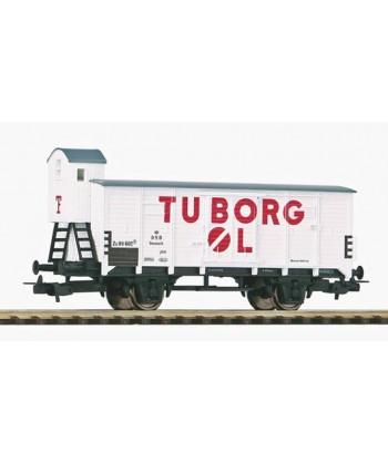 "PIKO H0 54619 – Carro chiuso G02 "" Birra Tuborg "" – DSB Ep. III"