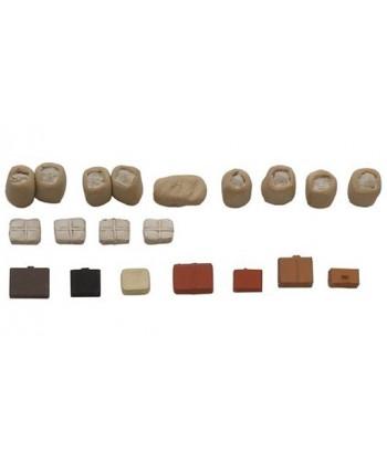 ARTITEC 387.58 – Merci ferroviarie: valigie, pacchi e sacchi postali , resina H0