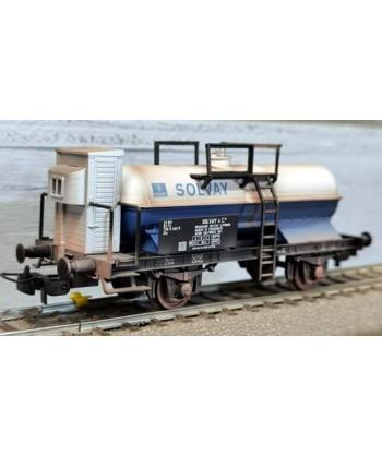"BLACKSTAR H0 BS00058/S – Carro cisterna Zkk ""Solvay"" – FS Ep. IV *invecchiato*"