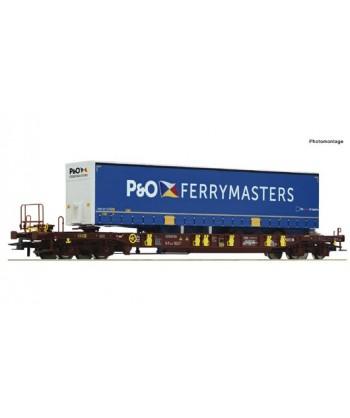 ROCO H0 76235 – Carro a tasca T3, AAE con semirimorchio P&O Ferrymasters – Ep. VI