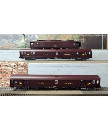 LS MODELS H0 40422 – Set 3 Postali livrea marrone SNCF Ep. IV