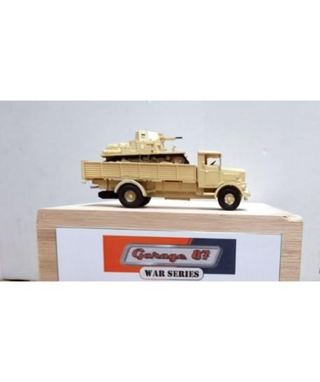 GARAGE 87 H0 87803 – Lancia 3RO con carro armato L6/40 Regio Esercito – *new*