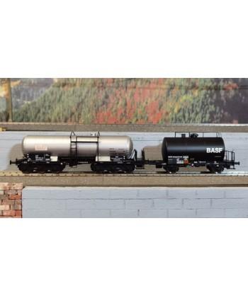 """BRAWA H0 B2006 – Set Carro cisterna ZZD e carro cisterna Z """"BASF"""" – DB Ep. IV"""