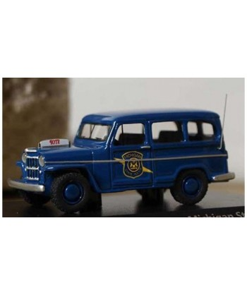"""BoS MODELS 87012 – JEEP WILLYS S.W. """"MICHIGAN POLICE"""" – 1/87"""