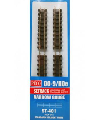 PECO H0e ST-401 – Binario diritto standard x 8 pz. 87mm.