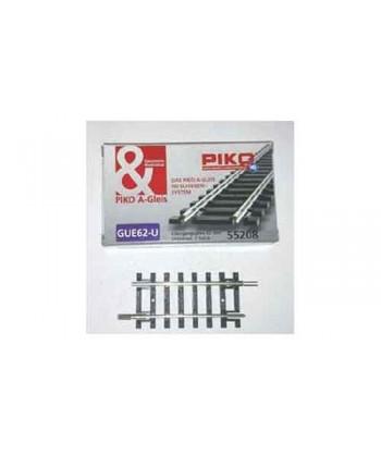 PIKO A-GLEIS H0 55208 – Binario di adattamento 62 mm. ( 2 pezzi)