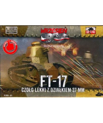 1/72 FIRST TO FIGHT PL 021 – KIT AUTOBLINDO FT-17 CON CANNONE 37mm.