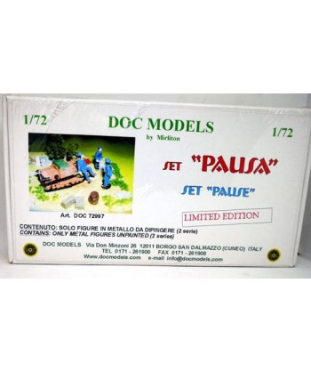 "1/72 DOC MODELS 72997 – PERSONAGGI SET ""PAUSA"" in METALLO"