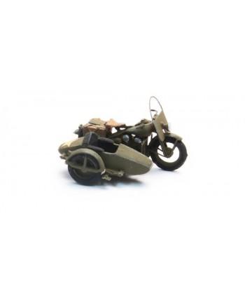 ARTITEC 387.80 – U.S. Moto Liberator con sidecar WWII – resina H0