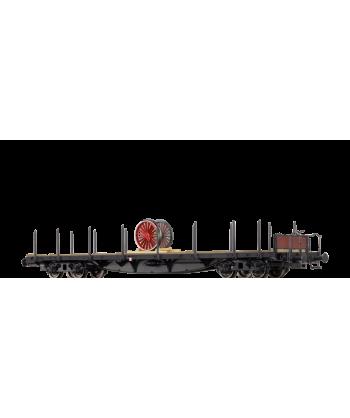 BRAWA H0 47233 – Pianale SSlma44 con carico ruote locomotiva UK/US ZONE – DB