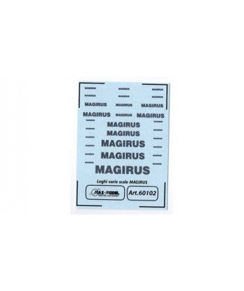 MAX MODEL 60102 – DECALCOMANIE LOGHI MAGIRUS VARIE SCALE