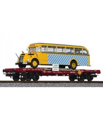 LILIPUT H0 235782 – Pianale con Bus GRAF & STIFT – SLB Ep. VI