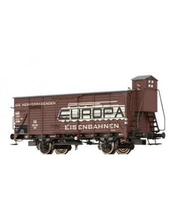 """BRAWA H0 49747 – Carro chiuso G10 """"Europa Spielwaren"""" – DB Ep. III"""