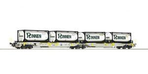 """ROCO H0 76427 – Carro con doppia tasca articolato tipo Sdggmrs/T2000 """"AAE"""" Ep. VI"""