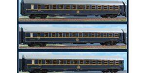 ACME H0 55200 – Set 3 Carrozze MU in Livrea Originale CIWL Ep. IV *Ed. Limitata*