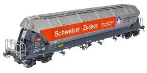 """NME 510625 H0 – Carro Silos 96,5mc Tagnpps """"Schweizer Zucker SBB"""" Ep. VI"""
