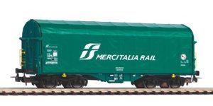"""PIKO H0 58959 – Carro telonato Shimmns trasporto coils """"MERCITALIA RAIL"""" – FS VI"""