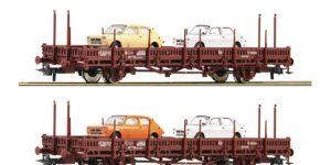 ROCO H0 67086 – Set 2 carri a stanti Kbs con carico Seat 127 – DB Ep. IV