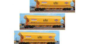 "BLACKSTAR H0 BS10008 – Set 3 carri tramoggia 101 mc. Tagnpps ""NACCO-VERONESI"" Ep. VI nuovi numeri"