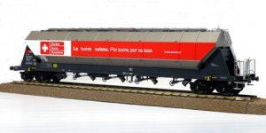 """NME H0 510691 – Carro Silos 96,5mc Tagnpps """"Schweizer Zucker"""" Ep. VI Luci di coda CH"""