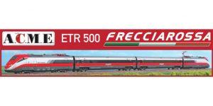 ACME H0 70100 – ETR 500 Frecciarossa (2 locomotive e 2 vetture) – FS Ep. VI *illuminato*