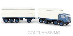 BREKINA 58420 – FIAT 690 millepiedi furgonato blu/bianco – 1:87 *NEW 2020*