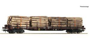 ROCO H0 76574 – Carro pianale Rs con stanti e carico legname – SBB Ep VI