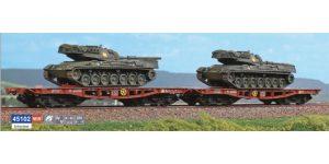 ACME H0 45102 – Set 2 carri Rlmmp-t caricati con carri armati Leopard – FS Ep. IV-V